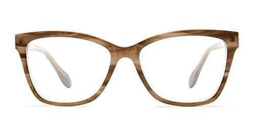 TIJN Acetate Optical Women Wayfarer Striped Full-rim Classic Eyeglasses - Optical Frame Repair