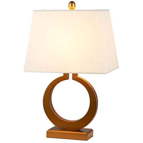 Modern Bronze Chrome Touch Dimmer Bedside Table Lamp with Poly Cotton White Light ()