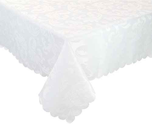 EcoSol Designs Microfiber Damask Tablecloth, Wrinkle-Free & Stain Resistant (60x102