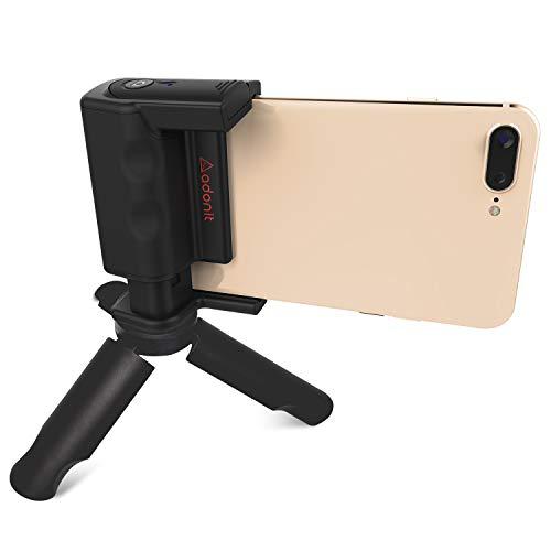 - Adonit Photogrip Shutter Remote Bluetooth Selfies Included Mini Tripod, Travel Case, Mini Stylus. Smartphone HandGrip for Camera Stable Shots, Black