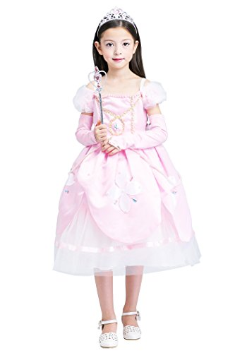 [YMING Girls Princess Dress Pink Costume Halloween Costumes 6-7 Years] (80s Prom Dress Costume Ideas)