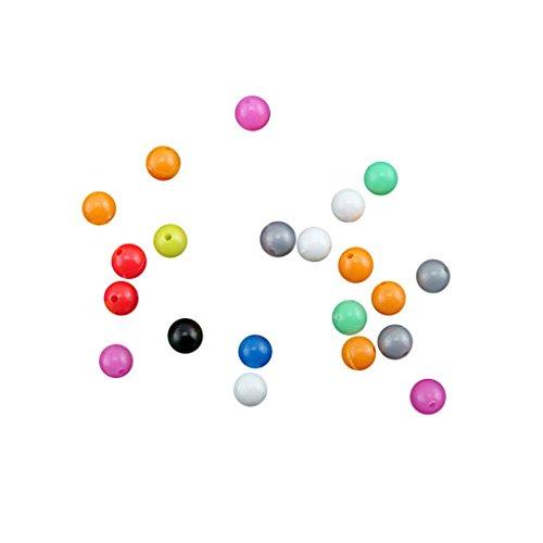 MuLuo 100pcs Per Pack Round Shaped Plastic Fishing Beads Fishing Lures Fishing Bead 8mm