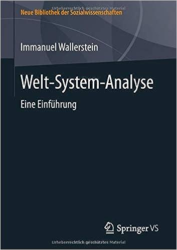 Welt System Analyse Eine Einführung Neue Bibliothek Der Immanuel