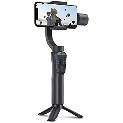 Gimbal Stabilizer  BlitzWolf 3-Axis Handheld Smartphone Gimbal Stabilizer with Tripod  APP Control  Face and Object Tracking  Time Lapse  Zooming for iPhone Samsung Huawei 2019 Latest Version