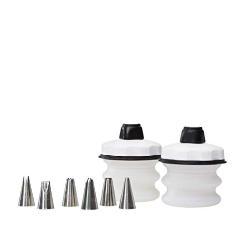 OXO Good Grips Baker's 4-Piece Silicone Decorating Bottle Kit, Clear