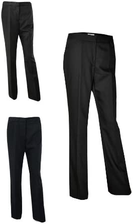 Austin Reed New Ex Ladies Womens Formal Suit Wool Trousers Uk 12 Navy Amazon Co Uk Clothing