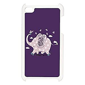 LZX Lovely Elephant Pattern Hard Case with Rhinestone for iPod Touch 4