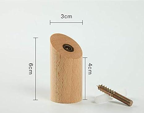 Amazon.com: VPT 4 ganchos de madera natural para abrigos de ...