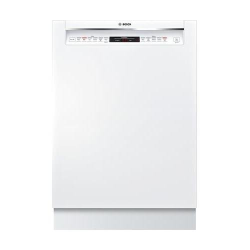 Bosch 800 Series 24 Inch Built In Full Console Dishwasher with 6 Wash Cycles, 16 Place Settings, Soil Sensor, Energy Star Certified, Delay Start, RackMatic, Flexible 3rd Rack in White by Bosch Products