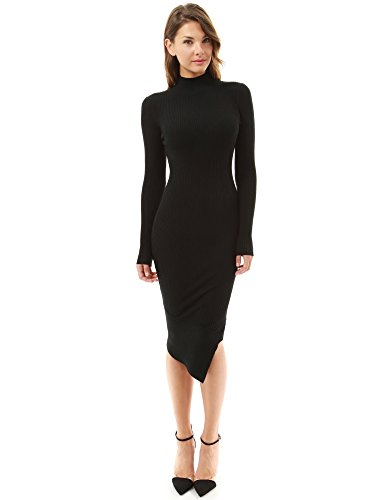 PattyBoutik Women Turtleneck Sweater Dresses | Long Sleeve Sweater Dresses
