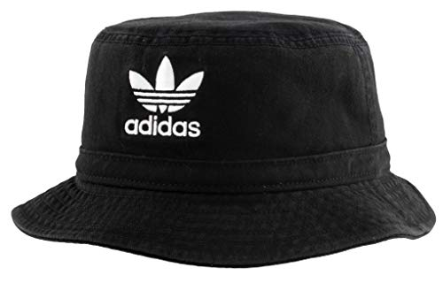 adidas Originals Originals Washed Bucket Hat, Black/White, One Size