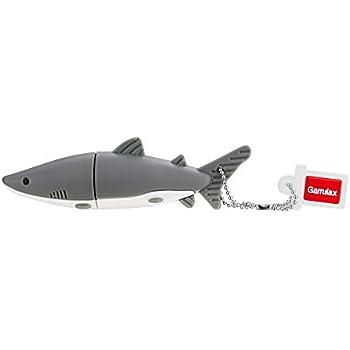 Amazon.com: aneew Azul Pendrive tiburón pescado unidad flash ...