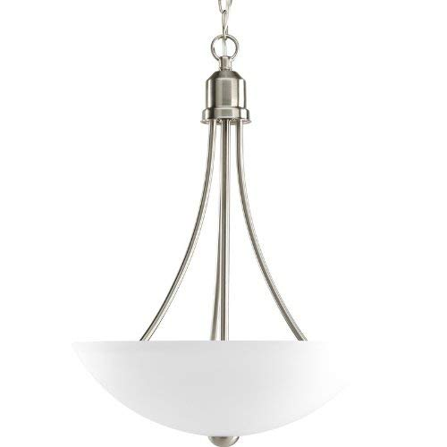 Collection Fluorescent Pendant - Progress Lighting P3914-09EBWB Gather Collection 2-Light Foyer Pendant, Brushed Nickel