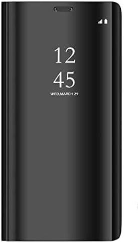 BCIT Samsung Galaxy S9 Plus Funda - Modelo Inteligente Fecha/Hora Ver Espejo Brillante tirón del Caso Duro con para el Samsung Galaxy S9 Plus - Negro: Amazon.es: Hogar