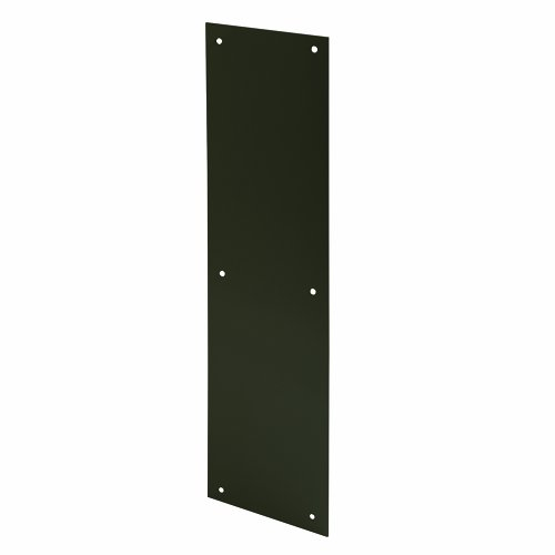 Prime-Line Products J 4686 Door Push Plate, 4 X 16-Inch, Bronze Painted - Plate Bronze Aluminum