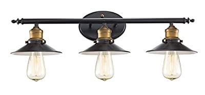 "Trans Globe Lighting 20513 ROB Griswald Industrial Vanity Bar, 25"", Indoor Rubbed Oil Bronze"