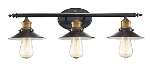 Trans Globe Lighting 20513 ROB Griswald Industrial Vanity Bar, 25'', Indoor Rubbed Oil Bronze by Trans Globe Lighting