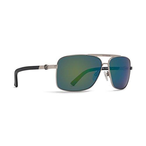 VonZipper Mens Metal Stache Sunglasses, Silver w/Quasar Glo Lens, One (Glo Lens)