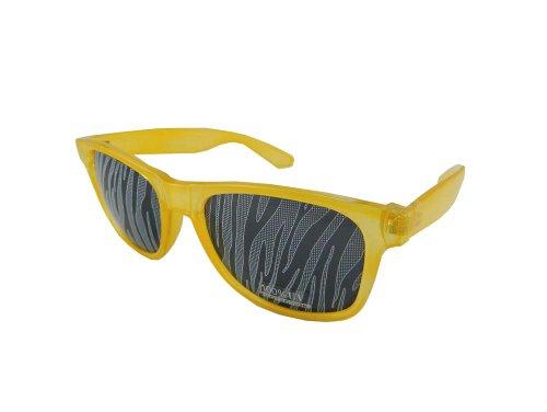 New Novelty Wayfarer Retro Sunglasses - Zebra Stripe Lens - Sunglasses Tom Business Cruise Risky
