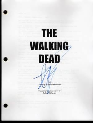 Writer Robert Kirkman Signed the Walking Dead Tv Pilot Script In-person