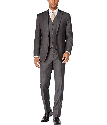 (Michael Kors Mens Classic-Fit Two Button Suit, Grey, 46 Long / 39W x UnfinishedL)