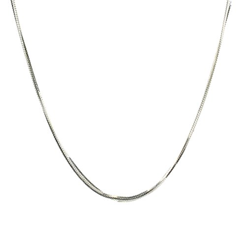 g Silver Serpentine Chain Necklace Italy 20