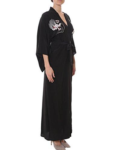 PAROSH Damen D430650RSIDRO13 Schwarz Seide Kleid ZWTsJLR4 - also ...