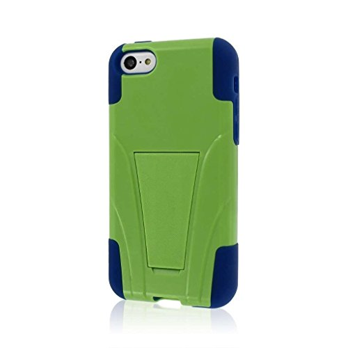 MPERO IMPACT X Series Kickstand Case Tasche Hülle for Apple iPhone 5C - Blau / Grün