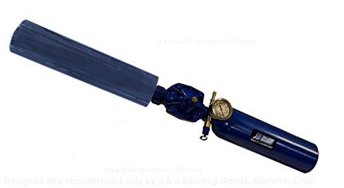 J&JSporting Multi Launcher, Tennis Ball Cannon, T Shirt Launcher Gun BR2.654 Medium, Aluminum Chamber & Barrel, Single Shot, Refillable, with Standard tire stem air Fill.