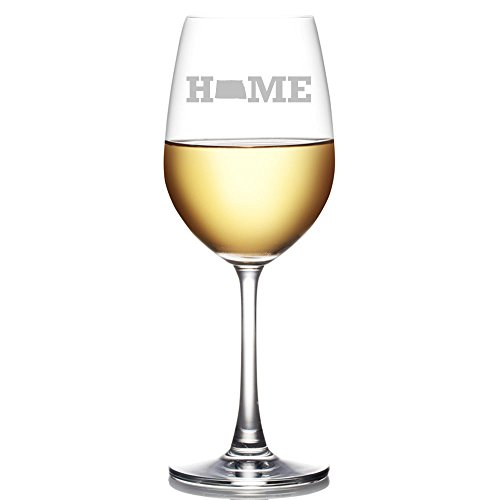 My Home State North Dakota Engraved 18-ounce Wine Glass