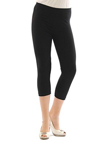 Yeset - Legging longueur 3/4 - Capri - Femme - Noir - XL