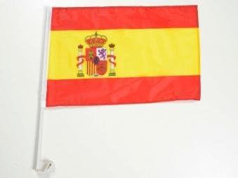 Amazon.es: Auto bandera AUTO Bandera de España con soporte para ventana lateral 30 x 45 cm