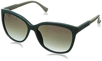 CK Women's CK3152SL 103 Cateye Sunglasses, Jungle Green, 16 mm