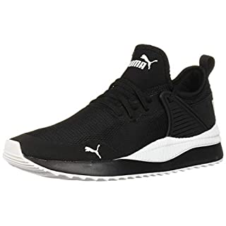 PUMA Women's Pacer Next Cage Sneaker, Black White, 6.5 M US