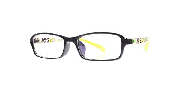 c03cb8f164ac5 Amazon.com  EyeBuyExpress Kids Childrens Reading Glasses Black Yellow  Rectangular Full Rim  Health   Personal Care