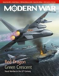 DG: Modern War Magazine, Issue # 1, with Red Dragon/Green Crescent Board Game (Premier Issue) Crescent Fine China