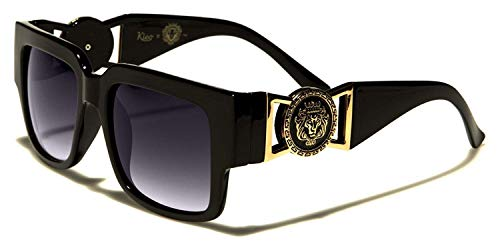 cd63b69c17 Kleo Horn Rimmed Gold Buckle Hip Hop Rapper DJ Celebrity Sunglasses