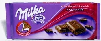 Amazon.com : Milka (Germany) Zartherb (Dark Chocolate) 3-Pack ...