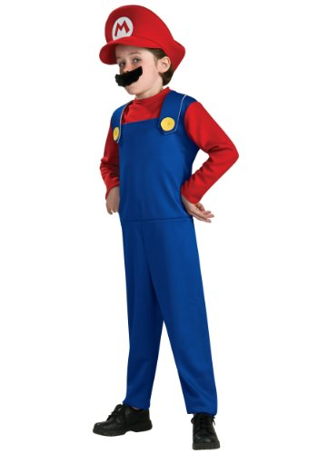 Mario Characters Costumes (Super Mario Brothers, Mario Costume, Small (Discontinued by manufacturer))