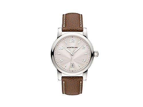 Montblanc Star Date 108762 39mm Stainless Steel Case Brown Calfskin Anti-Reflective Sapphire Women's Watch