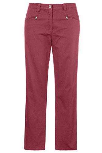 - Ulla Popken Women's Plus Size Mony Super Soft Stretch Pants Matte Berry 32T 720669 80