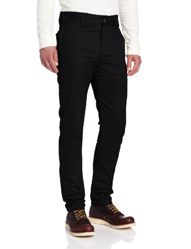 Dickies Men's Slim Skinny Fit Work Pant, Black, 32x32