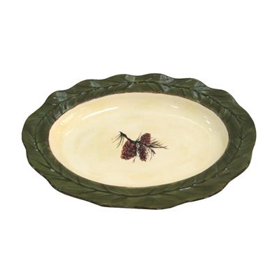 (HiEnd Accents Pinecone Stoneware Ceramic Serving Platter)