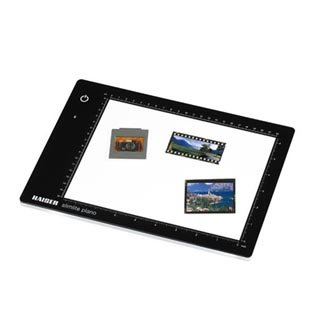 Kaiser Slimlite Plano 5000K 8x11'' Battery/AC Lightbox with USB Cable and Charging Adapter by Kaiser