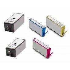 5 Pack BK/C/Y/M/PBK Combo Hp 564XL(CB321W/ CN684WN) Ink C...