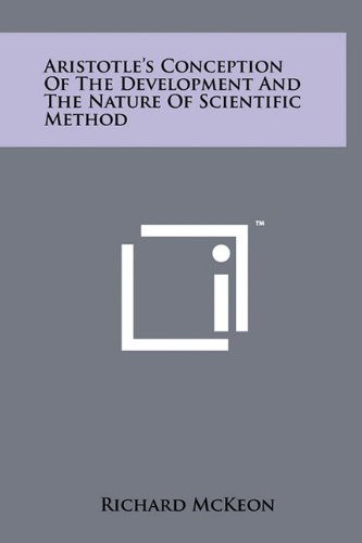 Download Aristotle's Conception of the Development and the Nature of Scientific Method pdf epub