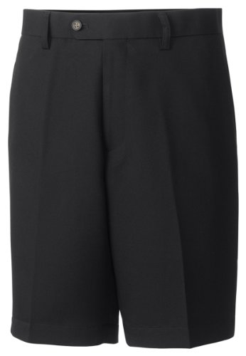 Cutter & Buck MCB01808 Mens Twill Microfiber Flat Front Short, Black-38