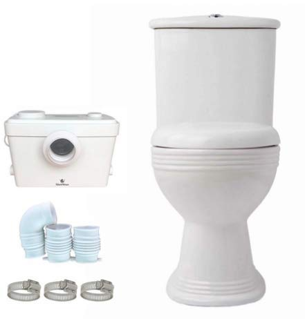Macerating Upflush Toilet Kit with Standard Bowl ()