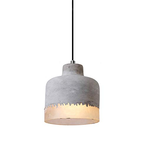 Berlato Grey Concrete Creative Pendant Light, E26 Hanging lamp Pendant Cement Chandelier with White Resin Light Fixture for Living Room Kitchen Island Bedroom Bar