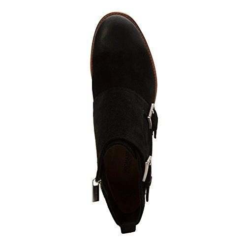 MICHAEL Michael Kors Womens Adams Monk Strap Bootie Leather Closed Toe Ankle Black Ml4hO
